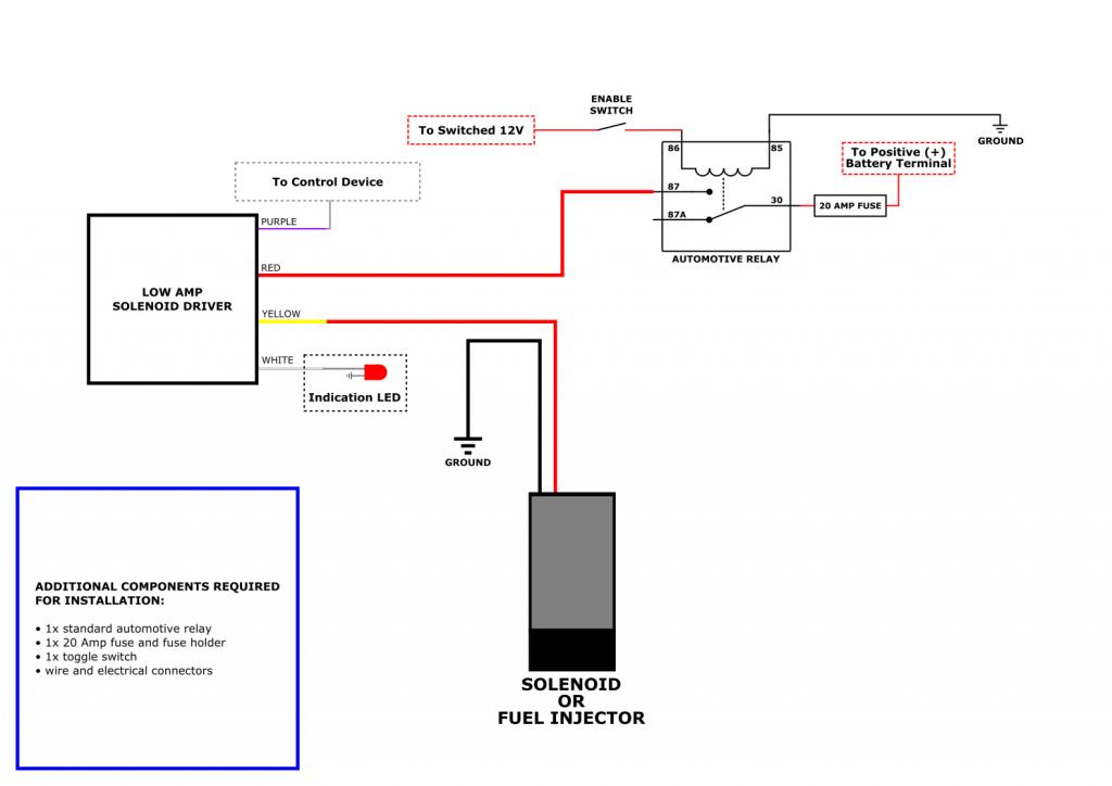 Cortex Low Amp Solenoid Driver wiring schematic